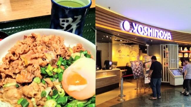 マレーシア現地採用 ある日のランチ③ モール内の日本食レストランの牛丼の写真